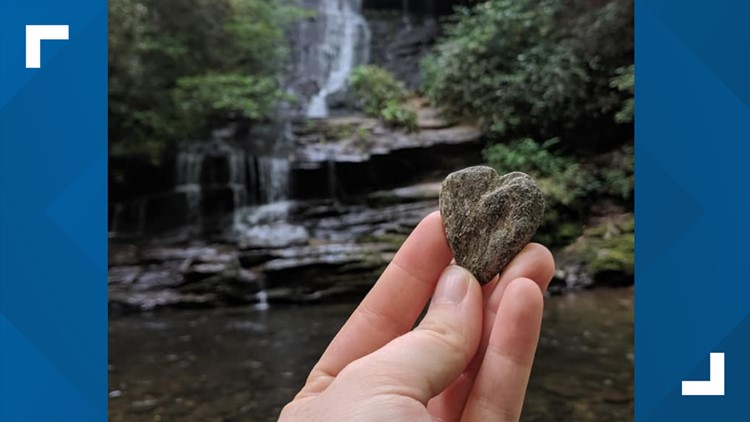 Young visitor returns rock to GSMNP with sweet note