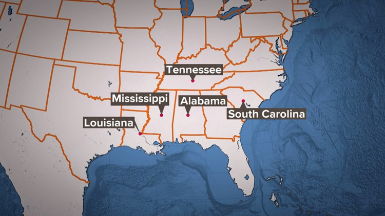 Five States without set minimum wage Tennessee