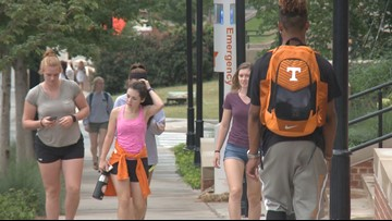 Thousands of UT students head back to class on Rocky Top