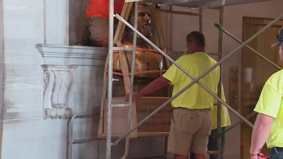 Bust of former KKK leader, Nathan Bedford Forrest, removed from Tennessee capitol