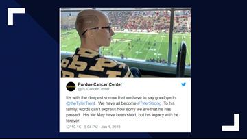 Former Purdue student fighting rare bone cancer dies