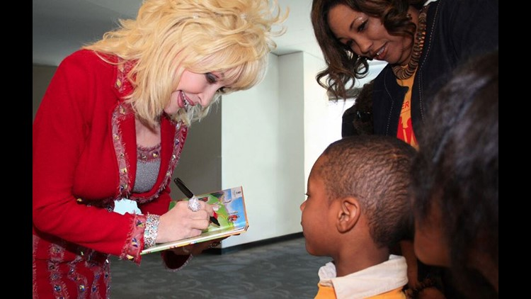 Dolly Parton Imagination Library book signing
