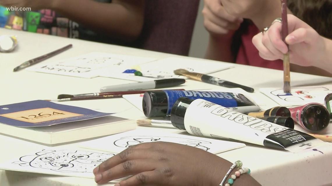 Knoxville kids enjoy week long art camp
