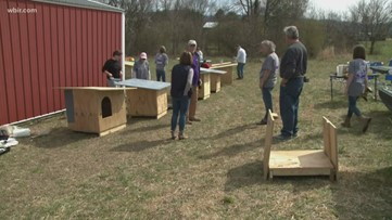 Pay it Forward: Blount County volunteers build homes for animals in need