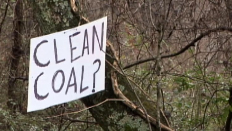 Clean Coal Sign after TVA ash spill at Kingston Fossil Plant 2008