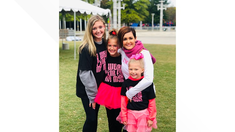 Knoxville mom and family 'think pink' ahead of the Race for The Cure Survivors parade