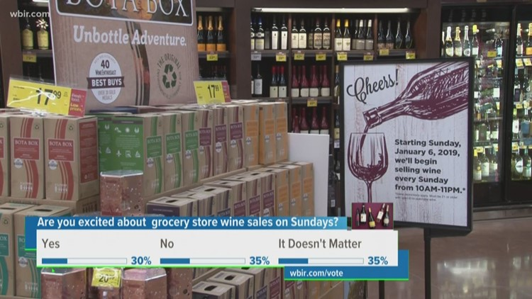 Grocery stores see first wine sales on Sunday in the new year