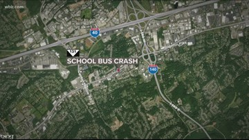 KCS bus involved in crash