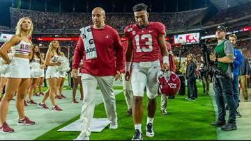 Alabama quarterback Tua Tagovailoa leaves game with injury