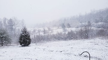 Snow falls across East Tennessee