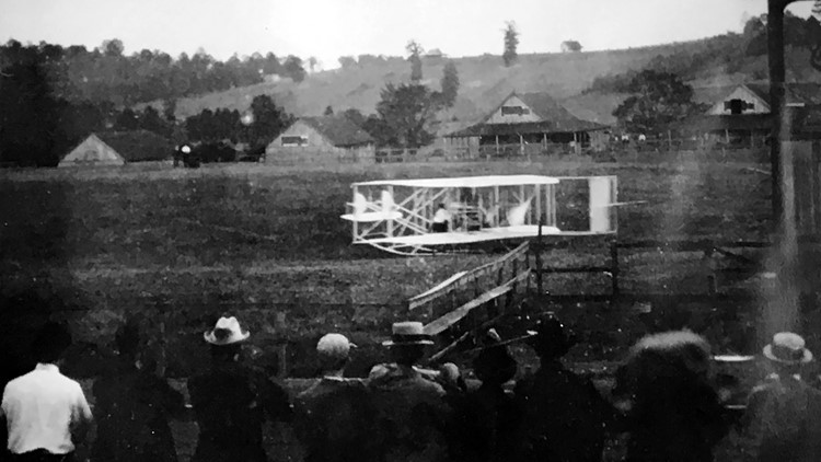 Wright Brothers Plane 1911 Knoxville Speedway Circle Cal Johnson