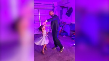 Dad surprises daughter with personal 'Daddy-Daughter Dance' in family's garage