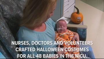 UT Medical Center NICU crafts costumes for babies
