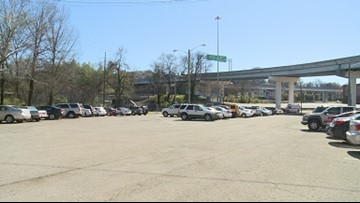 How much parking does Knoxville have?