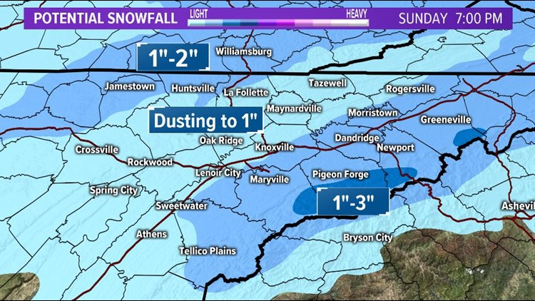 Potential Weekend Snow Totals
