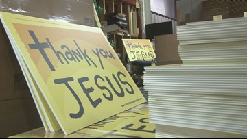 'Thank You Jesus' Signs Sharing More Than Just A Message
