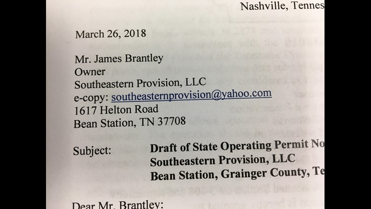 The Southeastern Provision slaughterhouse had a septic system failure in March that caused the spread of sewage into the environment.