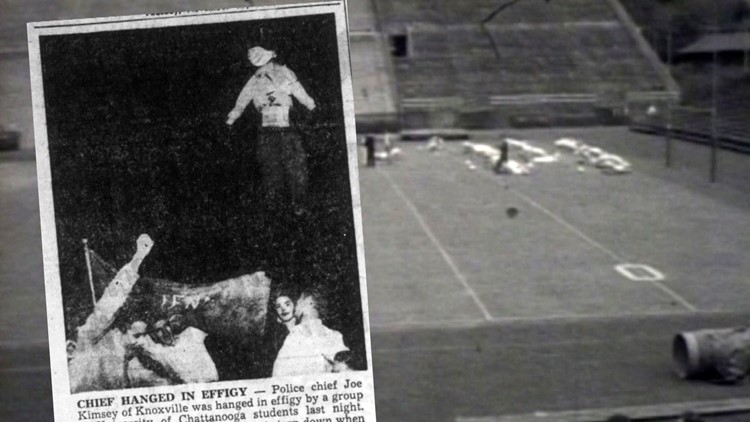 Police Chief Hanged in Effigy 1958 Chattanooga Tennessee Vols
