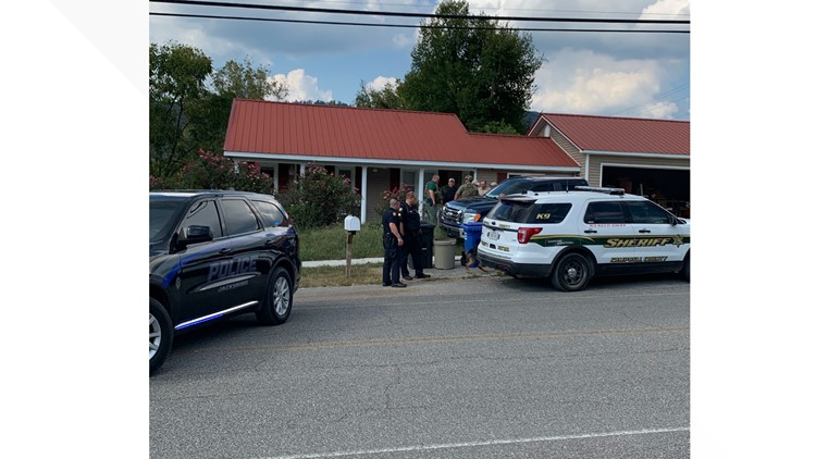 Police enclose Coopers house as investigation continues.