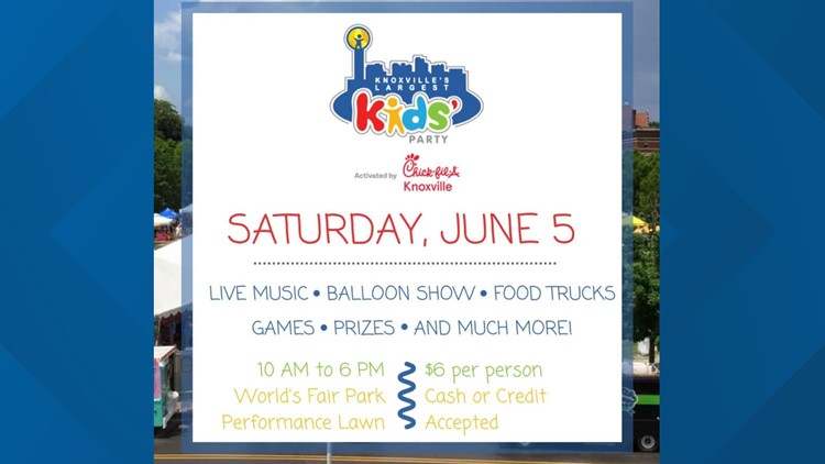 10 About Town   Knoxville's Largest Kids' Party brings the fun to World's Fair Park on Saturday