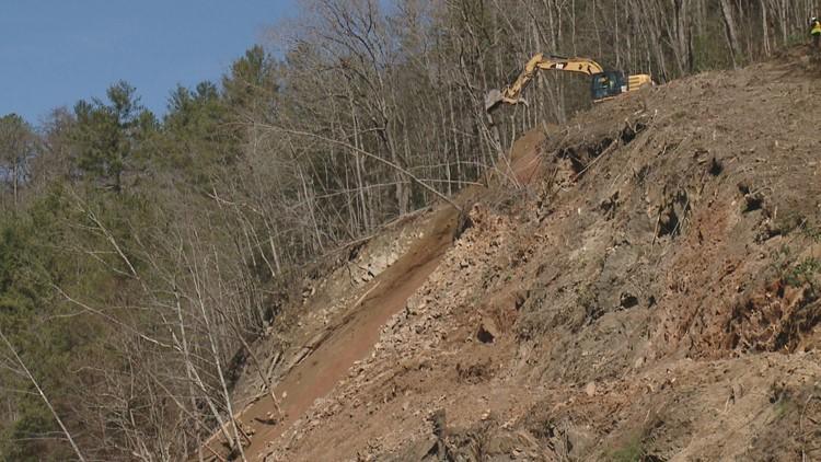 NCDOT Rockslide Repairs Interstate 40