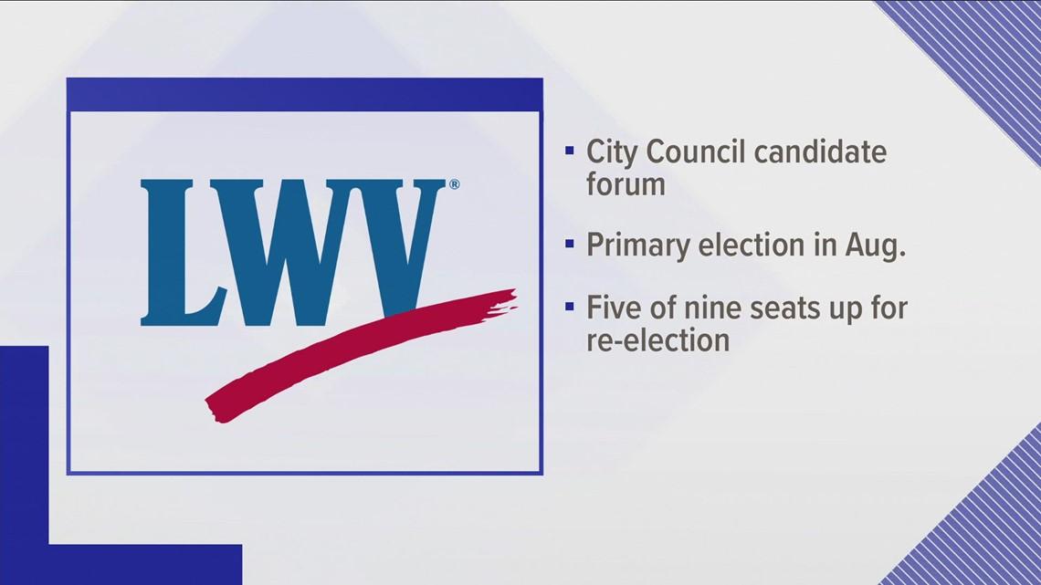 League of Women Voters hosts city council candidate forum