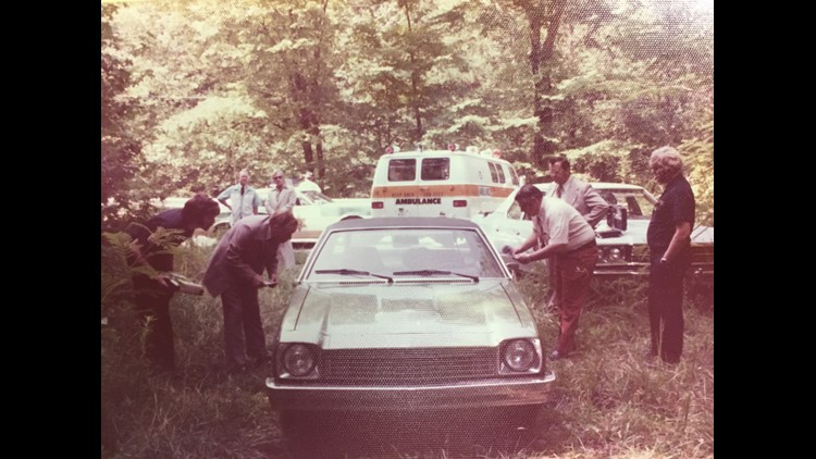 Detectives examine Gossert's Chevrolet