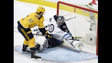 Predators bounce back, beat Jets to even series in Game 2 in double OT