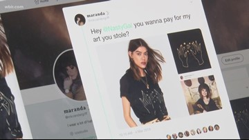 East TN artist says company copied her design