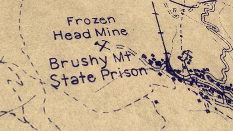 Map Frozen Head Mine Brushy Mountain Prison