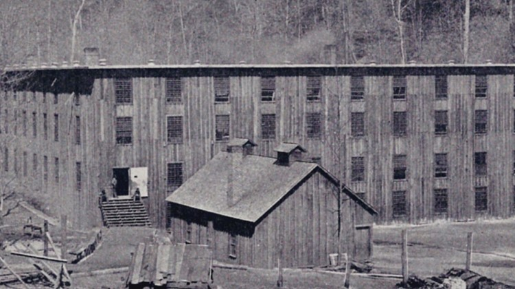 Early wooden prison Brushy Mountain
