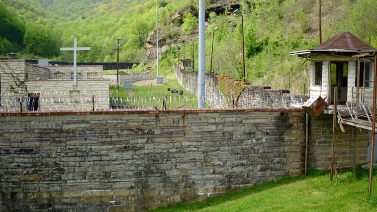 Brushy Mountain Prison Wall Tower Chapel Drone