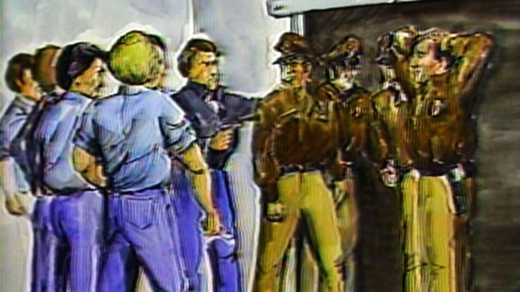 1982 Sketch Guards hostage Brushy Mountain Prison