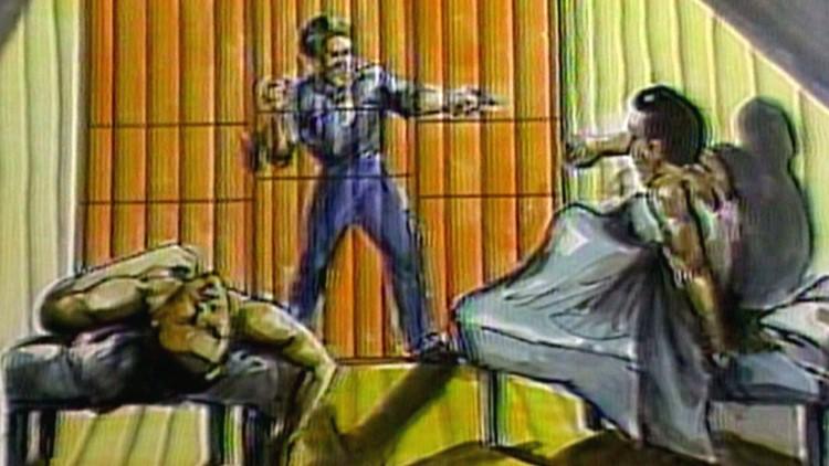 1982 Sketch Shooting Brushy Mountain Prison