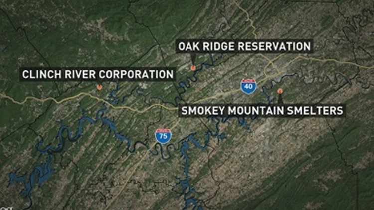 Three Superfund sites in East Tennessee