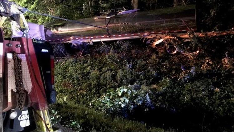 Man dies after empty tanker truck drove off I-40 near Lenoir City
