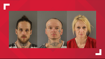Three arrested after breaking into laundromat, KPD says