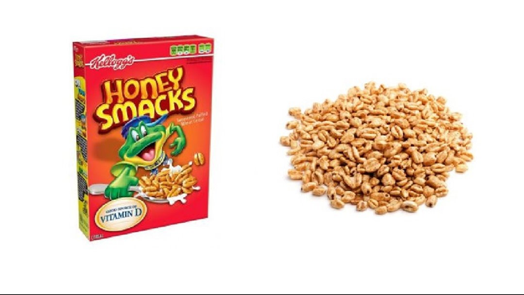 The recall, issued on June 14, is for 15.3 ounce and 23 ounce Kellogg's Honey Smacks cereal.