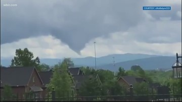 The National Weather Service confirms two tornadoes formed Friday in Blount County