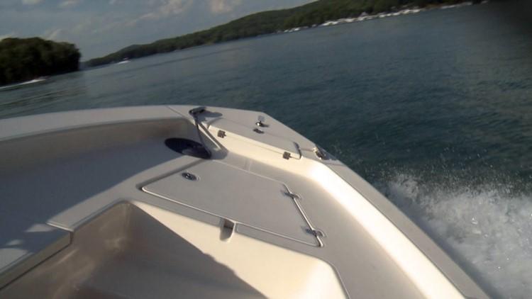 Boat Norris Lake Sideways