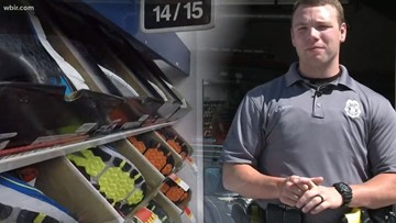 Star Spangled Summer Hero: police officers buy shoes for barefoot man