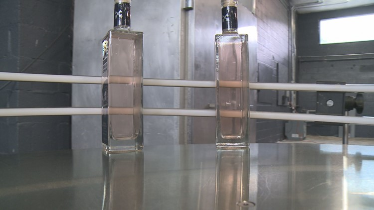 Take a taste of the 'End of the Line' moonshine distilled at Brush Mountain.