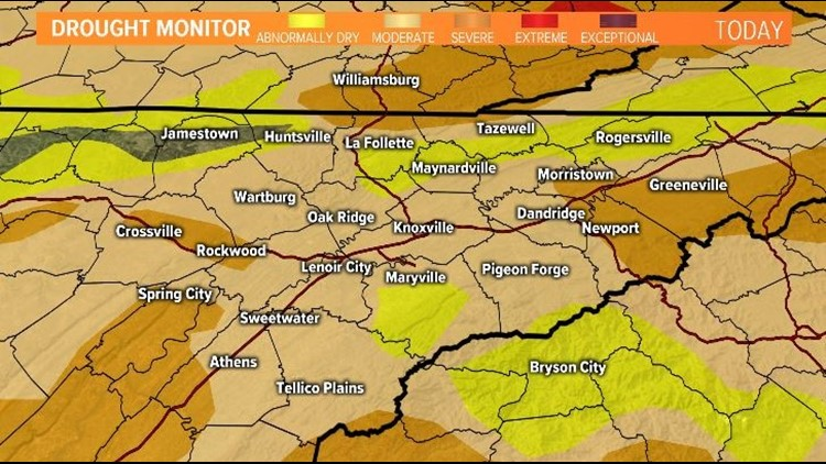 Drought conditions 10/10/19