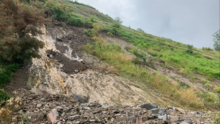 Rock slide Campbell County