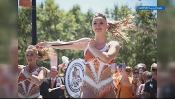 Gold medal baton twirler now performs with the University of Tennessee band