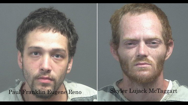 The Blount County Sheriff's Office arrested two men Friday for burglarizing a building in Louisville.