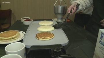 Free pancakes benefit children's hospital