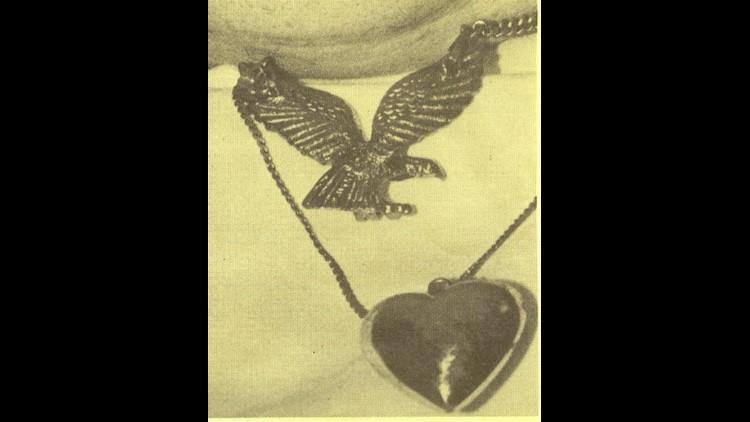 Jewelry worn by Knox County, KY Jane Doe