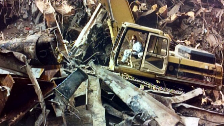 Excavation photo Don Carson album ground zero WTC