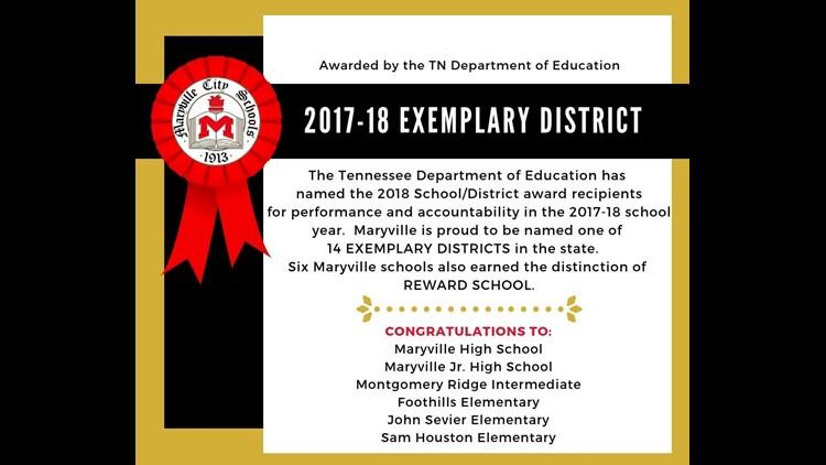Maryville School celebrates its designation